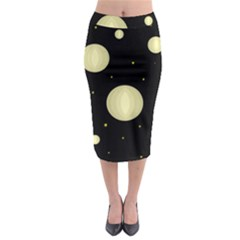 Lanterns Midi Pencil Skirt by Valentinaart