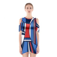 Abstract Nautical Cutout Shoulder Dress by olgart