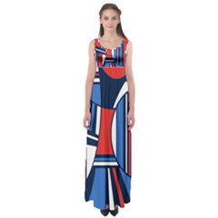 Abstract Nautical Empire Waist Maxi Dress by olgart