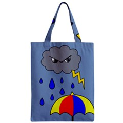 Rainy Day Classic Tote Bag by Valentinaart