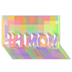 Pastel Decorative Design #1 Mom 3d Greeting Cards (8x4)