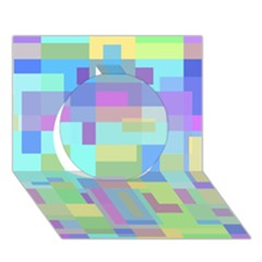 Pastel Geometrical Desing Circle 3d Greeting Card (7x5)  by Valentinaart