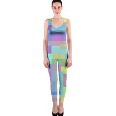 Pastel Geometrical Desing Onepiece Catsuit by Valentinaart