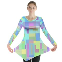 Pastel Geometrical Desing Long Sleeve Tunic  by Valentinaart