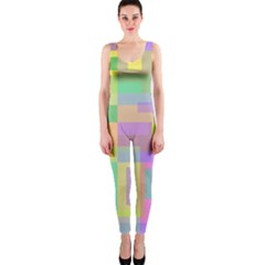 Pastel Colorful Design Onepiece Catsuit by Valentinaart
