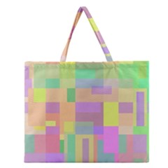 Pastel Colorful Design Zipper Large Tote Bag by Valentinaart
