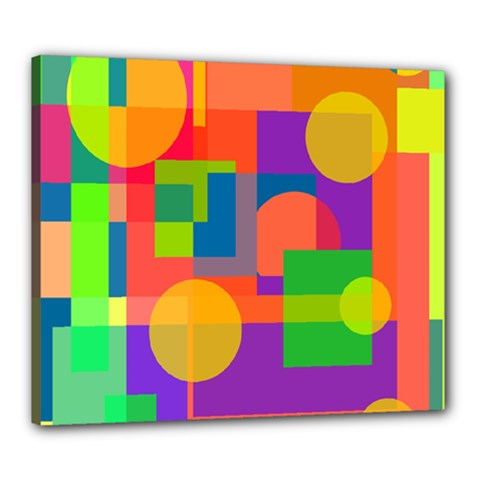 Colorful Geometrical Design Canvas 24  X 20  by Valentinaart
