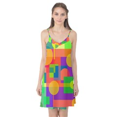 Colorful Geometrical Design Camis Nightgown