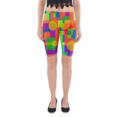 Colorful Geometrical Design Yoga Cropped Leggings