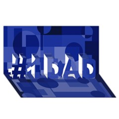 Deep Blue Abstract Design #1 Dad 3d Greeting Card (8x4)