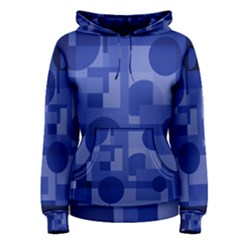 Deep Blue Abstract Design Women s Pullover Hoodie