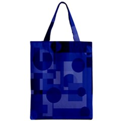 Deep Blue Abstract Design Zipper Classic Tote Bag by Valentinaart
