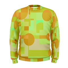 Green And Orange Decorative Design Men s Sweatshirt by Valentinaart