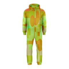Green And Orange Decorative Design Hooded Jumpsuit (kids) by Valentinaart