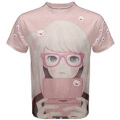 Gamegirl Girl Men s Cotton Tee by kaoruhasegawa