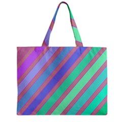 Pastel Colorful Lines Zipper Mini Tote Bag by Valentinaart