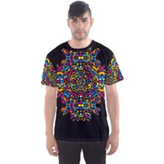 Stained Glass Pattern Men s Sport Mesh Tee by Contest2492222