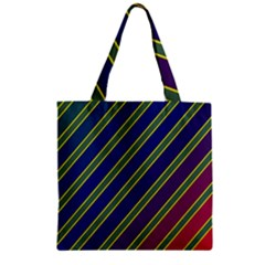 Decorative Lines Zipper Grocery Tote Bag by Valentinaart