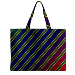 Decorative Lines Zipper Mini Tote Bag