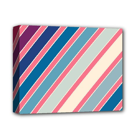 Colorful Lines Deluxe Canvas 14  X 11  by Valentinaart