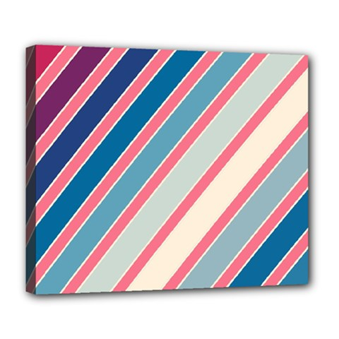 Colorful Lines Deluxe Canvas 24  X 20   by Valentinaart
