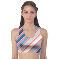 Colorful Lines Sports Bra by Valentinaart
