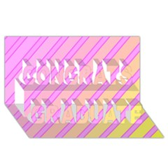 Pink And Yellow Elegant Design Congrats Graduate 3d Greeting Card (8x4)  by Valentinaart