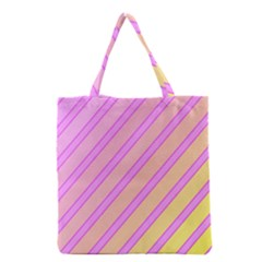 Pink And Yellow Elegant Design Grocery Tote Bag by Valentinaart