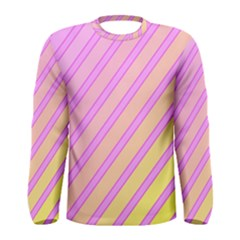 Pink And Yellow Elegant Design Men s Long Sleeve Tee