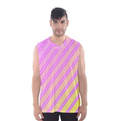 Pink And Yellow Elegant Design Men s Basketball Tank Top by Valentinaart