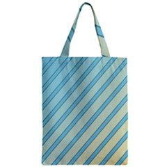 Blue Elegant Lines Classic Tote Bag by Valentinaart