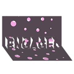 Pink Bubbles Engaged 3d Greeting Card (8x4)
