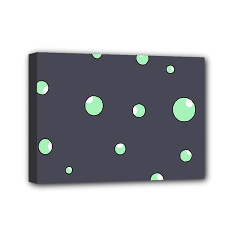 Green Bubbles Mini Canvas 7  X 5  by Valentinaart