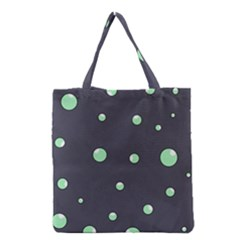 Green Bubbles Grocery Tote Bag by Valentinaart