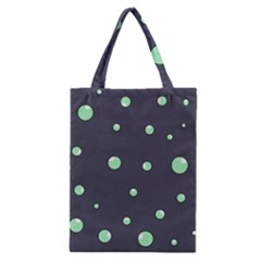 Green Bubbles Classic Tote Bag by Valentinaart