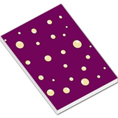 Purple And Yellow Bubbles Large Memo Pads by Valentinaart
