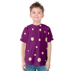 Purple And Yellow Bubbles Kid s Cotton Tee