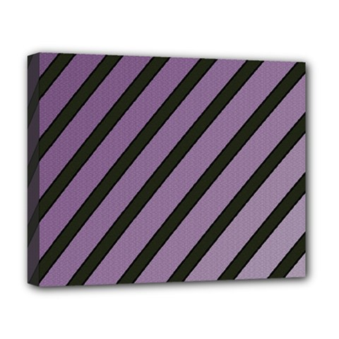 Purple Elegant Lines Deluxe Canvas 20  X 16   by Valentinaart