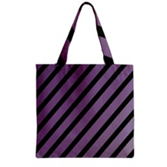 Purple Elegant Lines Grocery Tote Bag
