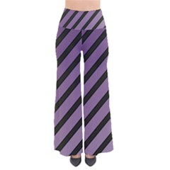 Purple Elegant Lines Pants
