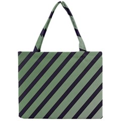 Green Elegant Lines Mini Tote Bag by Valentinaart