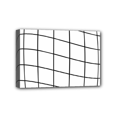 Simple Lines Mini Canvas 6  X 4  by Valentinaart