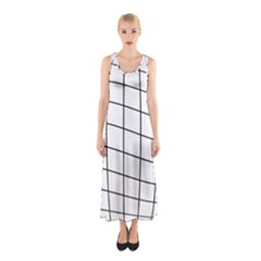 Simple Lines Sleeveless Maxi Dress