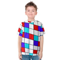 Colorful Cubes  Kid s Cotton Tee by Valentinaart