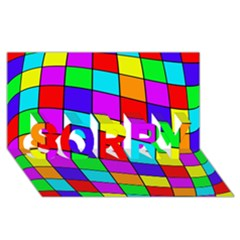 Colorful Cubes Sorry 3d Greeting Card (8x4)  by Valentinaart