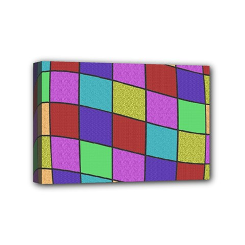 Colorful Cubes  Mini Canvas 6  X 4  by Valentinaart