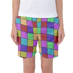 Colorful Cubes  Women s Basketball Shorts by Valentinaart