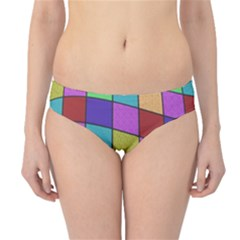 Colorful Cubes  Hipster Bikini Bottoms