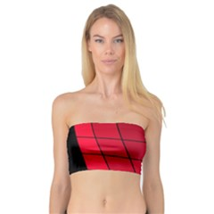Red Abstraction Bandeau Top by Valentinaart
