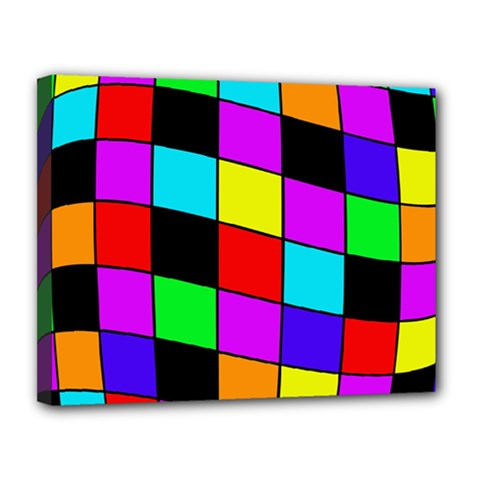 Colorful Cubes  Canvas 14  X 11  by Valentinaart